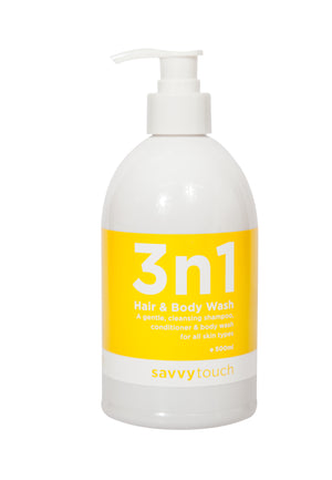 Hair Care, Savvy Touch 3N 1 Hair & Body Wash Gel 500ml