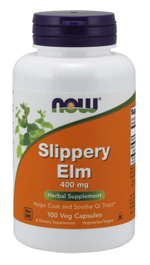 Men's Health & Well being, Now Foods Slippery Elm 400mg 100caps