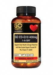 Circulation/Heart, Go Healthy Co-Q10 400mg 1-A-Day 60 Capsules