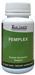 Women's Health & Well being, Xcel Health Femplex 60 Vege Capsules