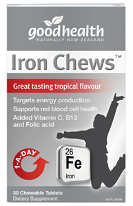Iron, Good Health Iron Chews 20mg 30's