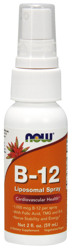 Now Foods B-12 Liposomal Spray 1000mcg 59ml