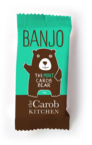 Honey, Food & Bars, Banjo Carob Mint Bear 15gm