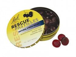 Bach Flowers, Bach Rescue Pastilles 50g  Blackcurrant