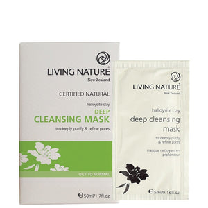 Living Nature Deep Cleansing Mask box of 10