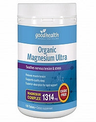 Sleep, Good Health Organic Magnesium Ultra 120 Tablets
