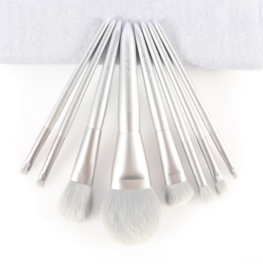 Complete Set Of 8 Super Soft Makeup Brushes