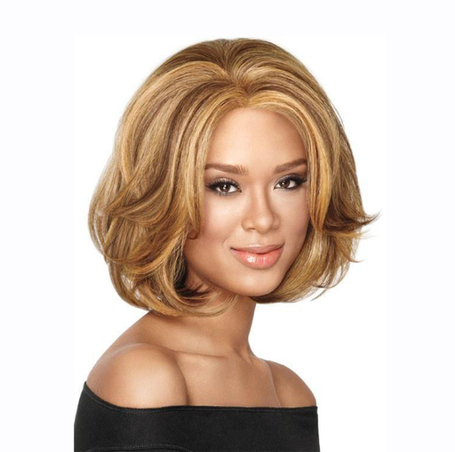SHORT FLUFFY COLORMIX STRAIGHT BOB SYNTHETIC WIG
