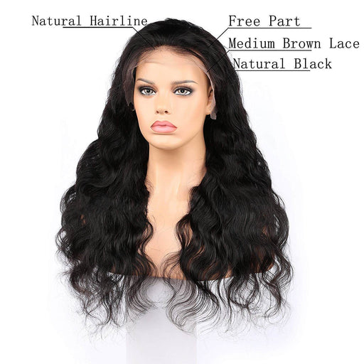 Glueless Brazilian Body Wave with Lace Frontal 180% Density
