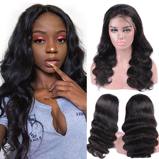 December 2019 Lace Front Lace Hair Wigs Body Wave Wigs-180%THICK