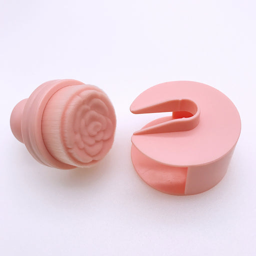 Seal type push-pull foundation brush -- Pink Rose Shape