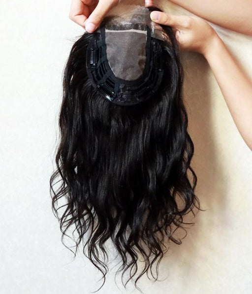 "5.5""*6"" Vickie Curly Virgin Remy Human Hair Mono Topper"