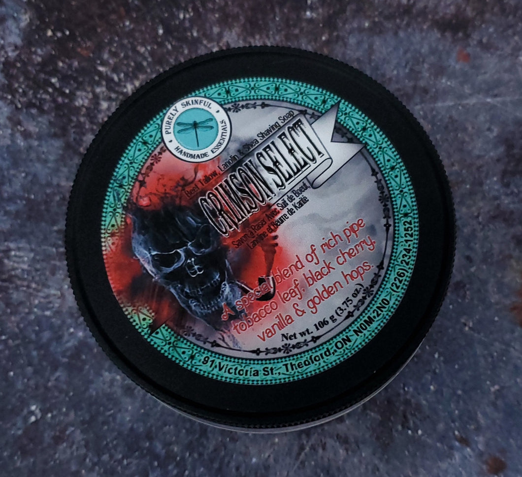 Crimson Select Beef Tallow Shave Soap
