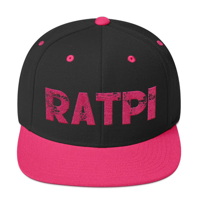 Black & Pink Snapback Hat with Pink Ratpi Writing