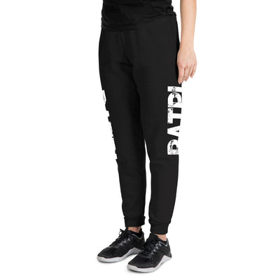 Black Unisex Joggers with White Ratpi Writing Printed on the sides