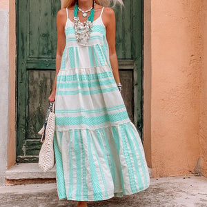 Radiez Vacation Style Sling Printed Maxi Dress