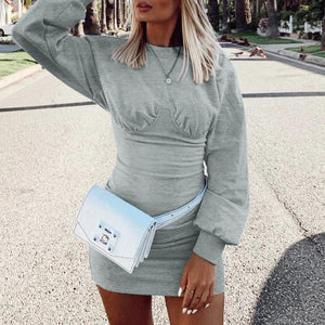 Radiez Cool Workout Long Sleeve Bodycon Mini Dress