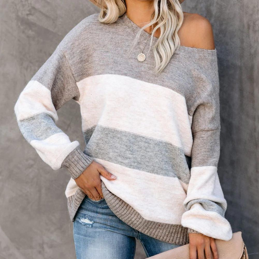 Radiez Casual Long Sleeve Round Neck Sweater