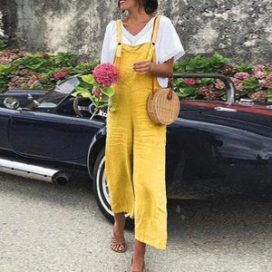 Radiez Bright Yellow Sling Casual Jumpsuit