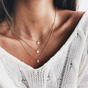 Radiez Fashion Simple Multi-Layer Necklace