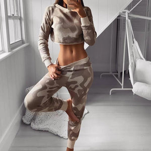 Radiez Fashion Camouflage Two-Piece Set