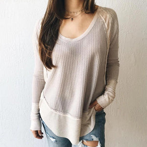 Radiez Round Neck Long Sleeve Casual Top