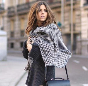 Radiez Houndstooth Long Scarf