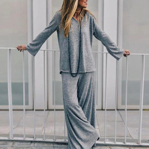 Radiez Graceful Loose Fit Sweatshirt With Dress Two-Piece Set