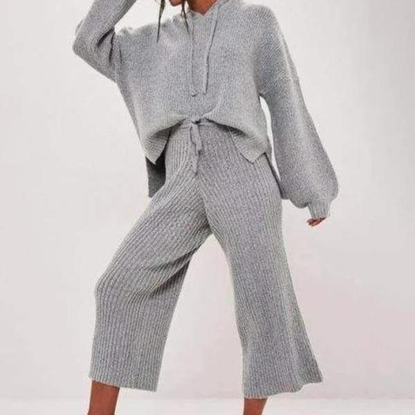 Radiez Hooded Long Sleeve Two-Piece Set
