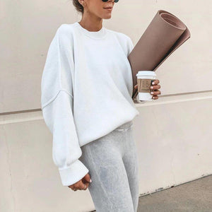 Radiez Lvory Casual Simple Round Neck Sweater