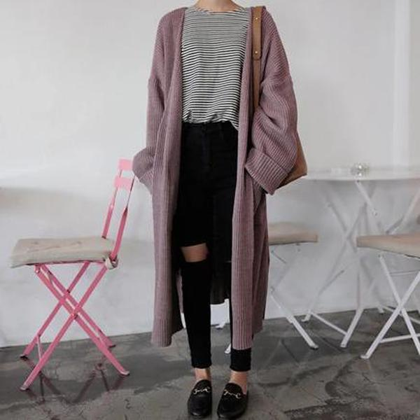 Casual Long Sleeve Loose Cardigan