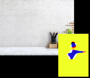 Dancer on Yellow A02 Giclee Canson Baryta