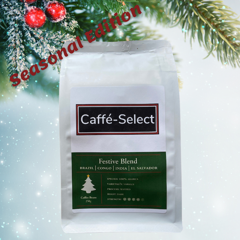 caffé-select seasonal coffee beans - festive blend