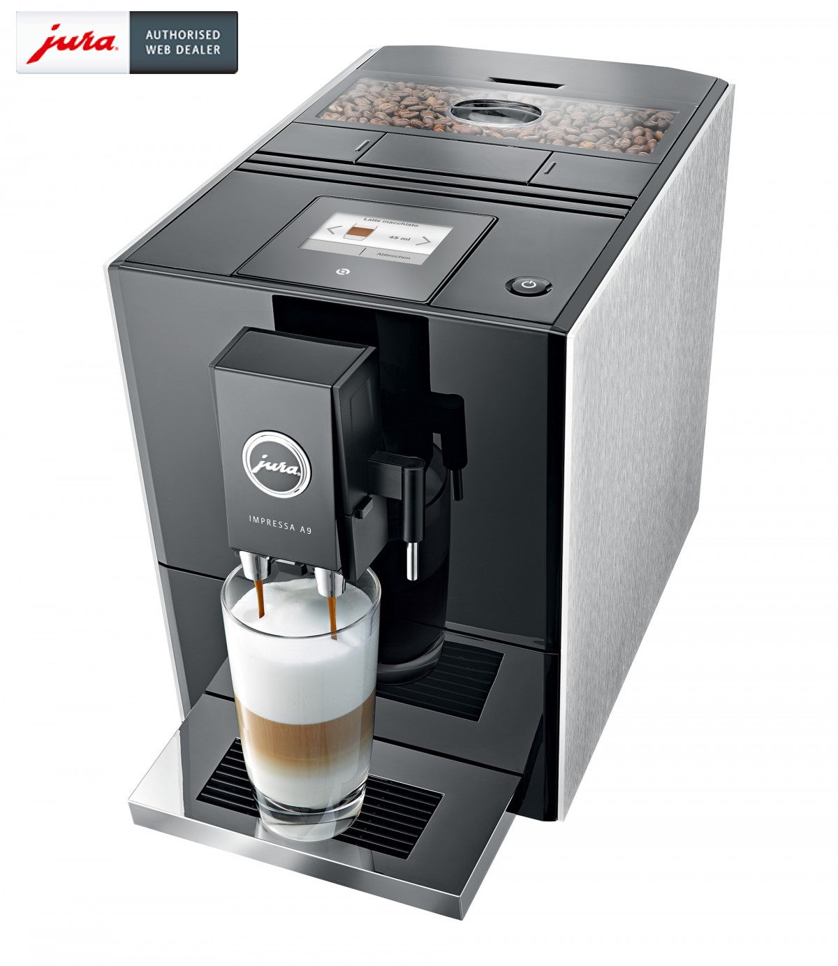 jura a9 aluminium coffee machine cafe select. Black Bedroom Furniture Sets. Home Design Ideas