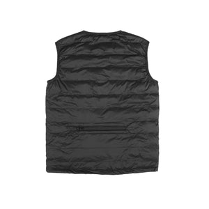 Crew Neck Packable Gilet - Black
