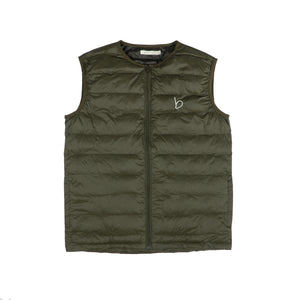 Crew Neck Packable Gilet - Khaki