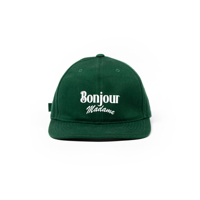 Bonjour Madame Baseball Cap - Forest Green