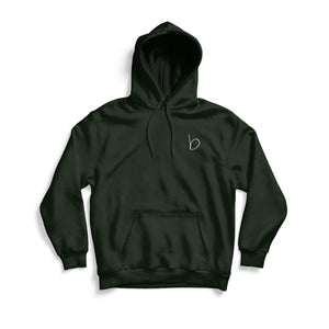 Organic Graphic Print Hoodie - Forest Green