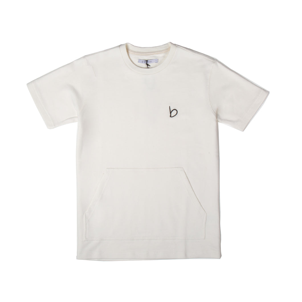 Eley Pouch Pocket T-Shirt - Off White