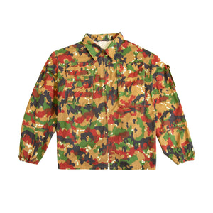 Two Chiefs - Reclaimed camo utility overshirt
