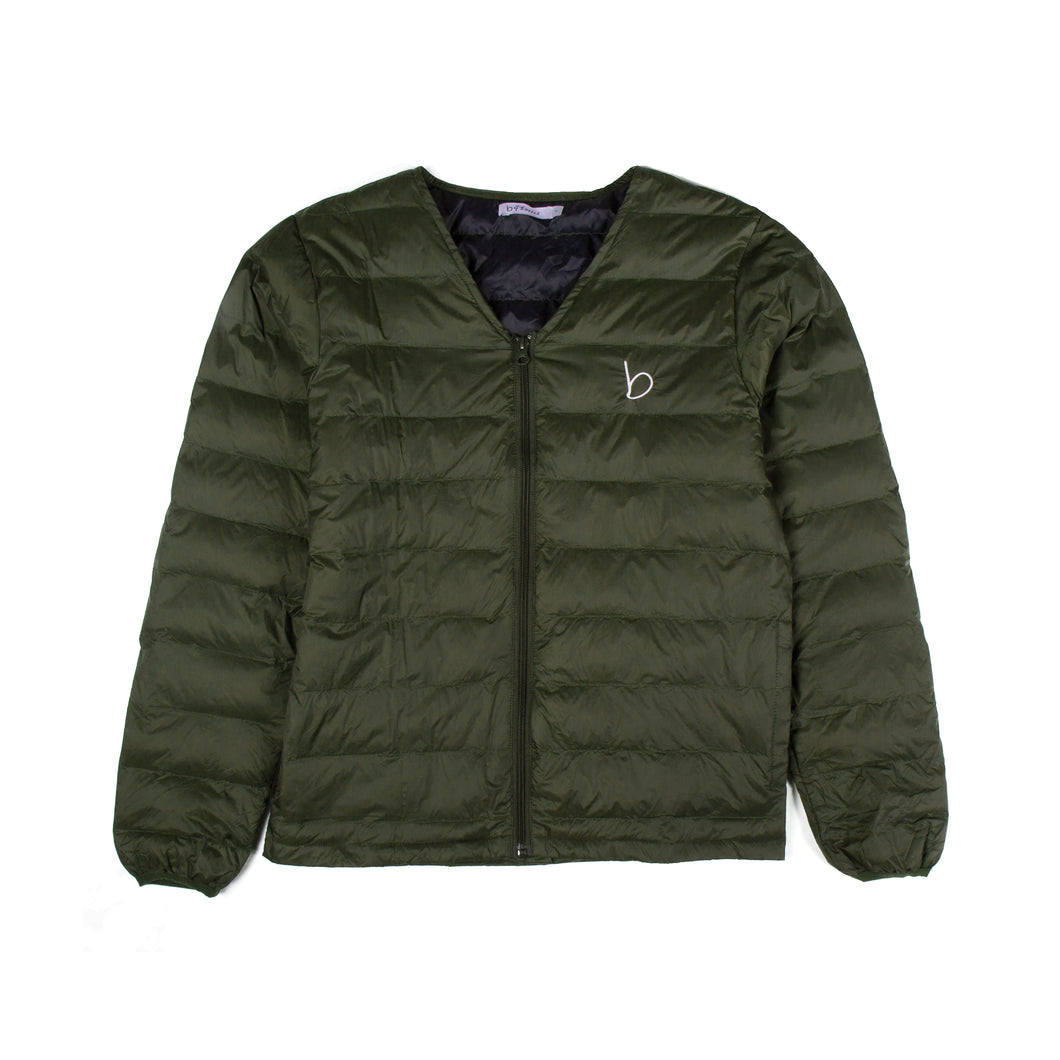 V-Neck Zip jacket - Khaki