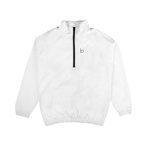 Packable Oversized Windbreaker - White