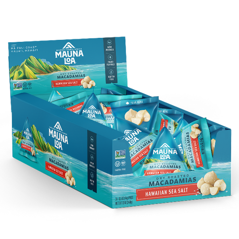 Flavored Macadamias - Hawaiian Sea Salt Mini Packs