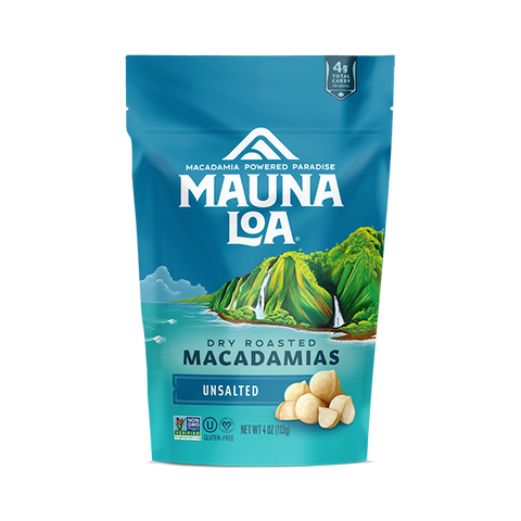 Flavored Macadamias - Unsalted Small Bag