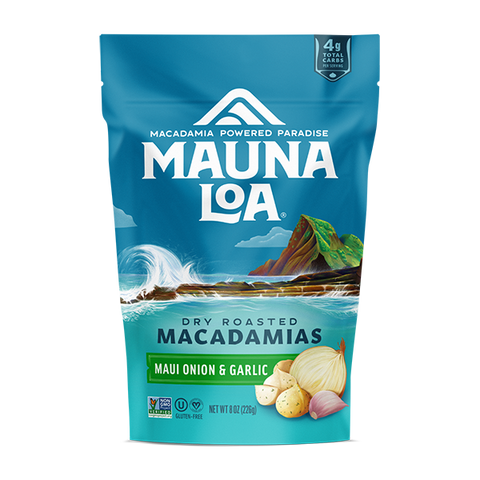 Flavored Macadamias - Maui Onion and Garlic Medium Bag