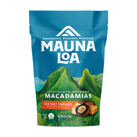 Chocolate Covered Macadamias - Dark Chocolate Sea Salt Caramel Medium Bag