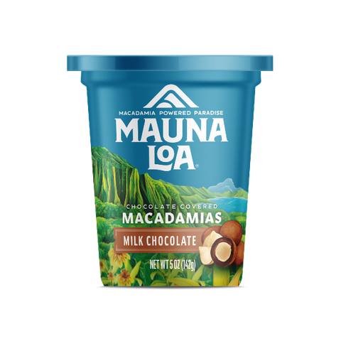 Chocolate Covered Macadamias - Milk Chocolate Cup