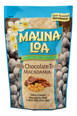 Chocolate Covered Macadamias - Milk Chocolate Toffee Bag