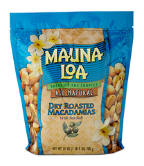 Flavored Macadamias - Dry Roasted Salted Bag