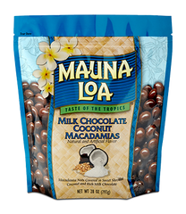 Chocolate Covered Macadamias - Milk Chocolate Coconut Bag